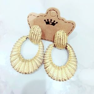 Gold Tone Vintage Earrings Statement